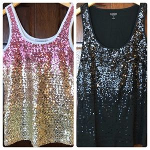 🔥Bundle of 2  Glittery tanks Luise Wear & Expres